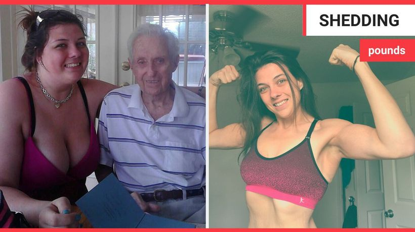 A waitress shed 125lbs after her grandfather begged her to lose weight on his deathbed