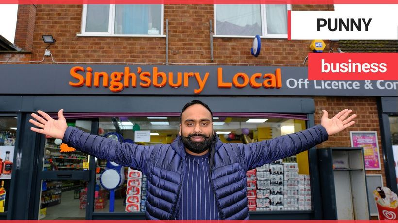 Man facing backlash from Sainsbury's after opening a shop called Singh'sbury