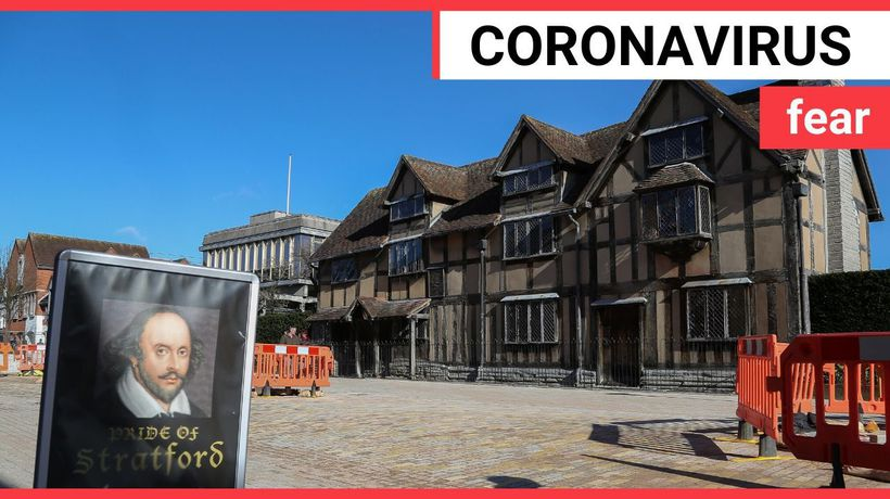 Some of England's most popular tourist attractions appear quiet in the wake of the coronavirus outbr