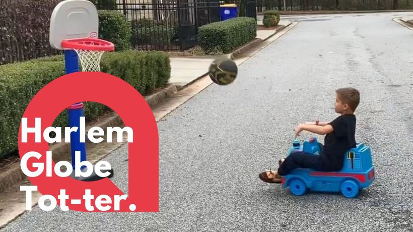 6-year-old performs mind blowing basketball tricks