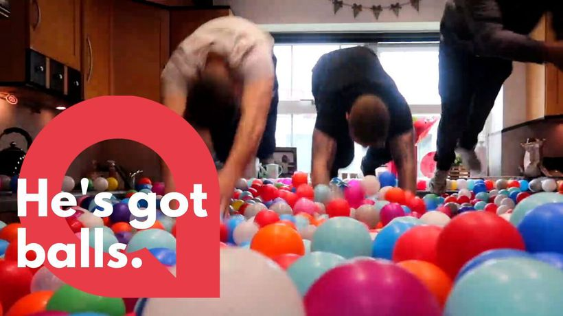 Dad turns house into a giant BALL PIT