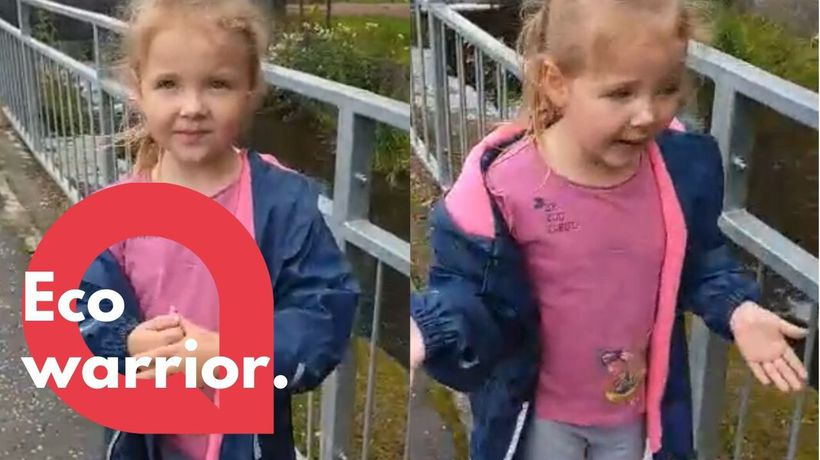 Five-year-old eco warrior calls out 'idiot' litter louts