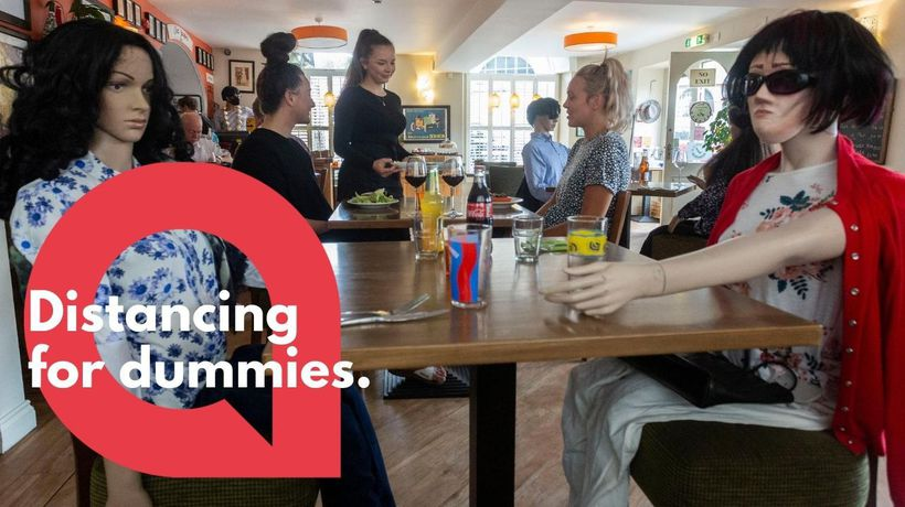 Restaurant uses mannequins to help keep customers socially distanced