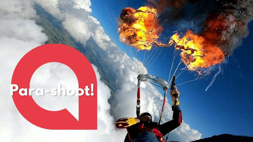 Terrifying moment a paraglider sets fire to his 'chute - at 7,000ft