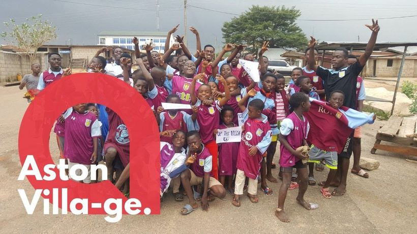 Incredible videos show a tiny town in Africa - where everyone supports ASTON VILLA