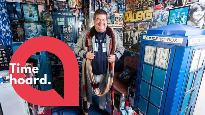 A Doctor Who superfan has laid claim to having the world's largest collection of memorabilia