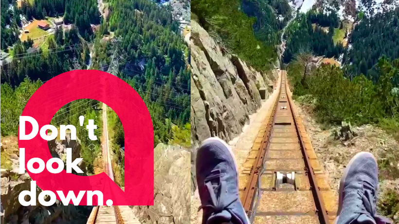 Watch this picturesque journey on a rollercoaster-like ride through the Swiss mountains