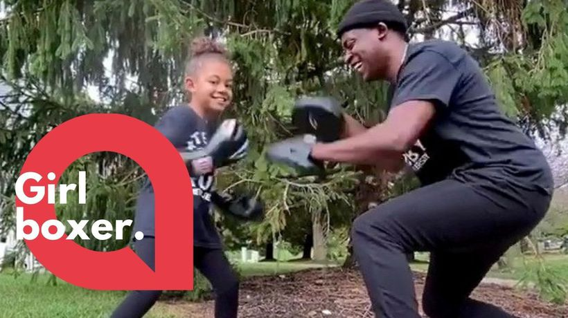 The seven-year-old girl boxer whose spars earned her a massive Instagram following