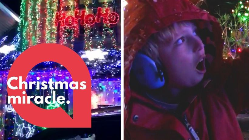 Moving moment autistic child speaks for one of the first times - and says Ho Ho Ho