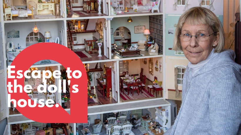 Self-isolating woman spends lockdown creating amazing doll's house mansion