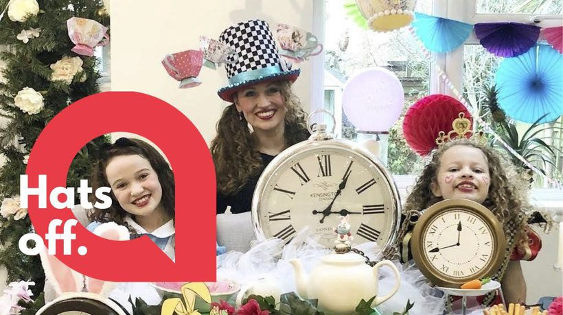 Mum transforms kitchen into Alice in Wonderland themed Mad Hatters party