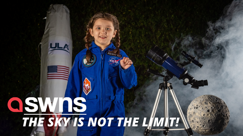 Aspiring astronaut will become the first child in the WORLD to send something to the moon