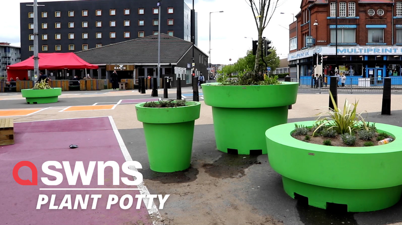 Council blasted for spending taxpayers' cash on giant 'Super Mario Brothers' green plant pots