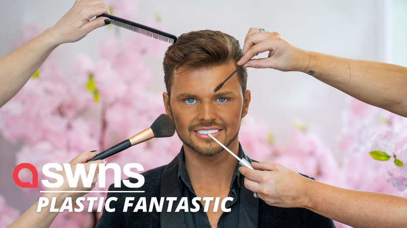"""UK man spends £10,000 a year to look like his """"plastic fantastic"""" idol - a Ken doll"""