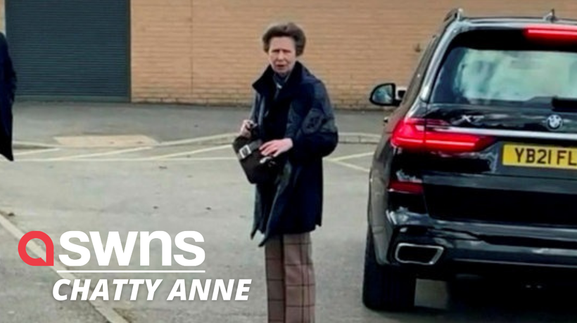 A pair of Royal fanatics had a chance encounter and even a chat - with Princess Anne