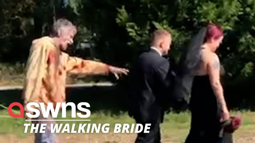 A zombie-obsessed bride had her 'dream wedding' dedicated to The Walking Dead