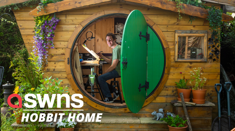 IKEA worker fulfils his childhood dream by building a 'Hobbit house' in his back garden in Scotland