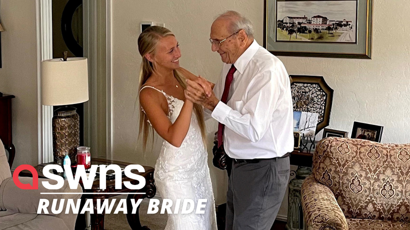 US bride flies 800 miles to dance with her grandad after he couldn't make her wedding day