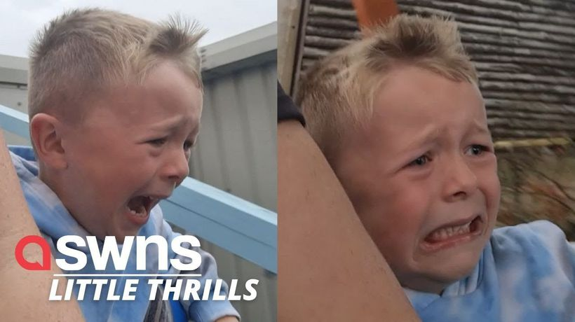 UK mum captures 5-year-old's FIRST EVER roller coaster ride and his reaction is priceless