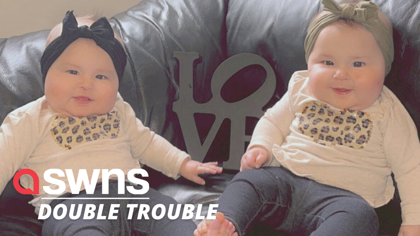 Meet the 21lb baby twins who are only SIX MONTHS OLD