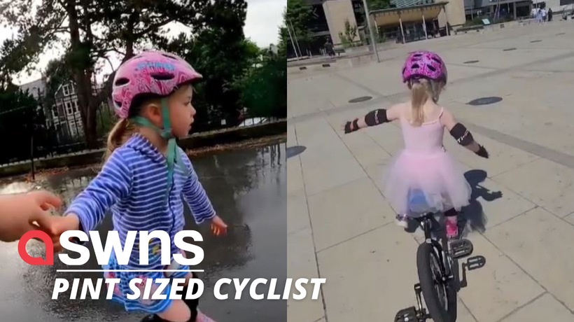 Meet Daisy a gifted four-year-old who learned to unicycle over lockdown