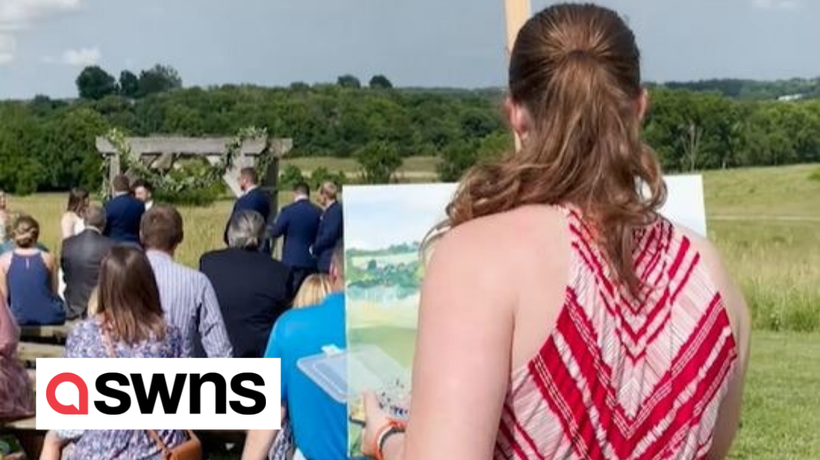 US artist surprises couples with bespoke paintings, made live during their special day