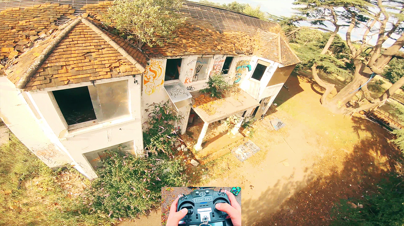 'FPV Drone Flies Through an Abandoned Building'