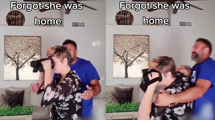 'VR Kissing Prank on Wife Goes Wrong'