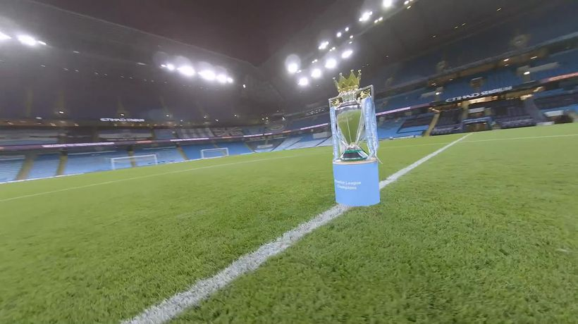 Manchester City release drone video to celebrate Premier League title