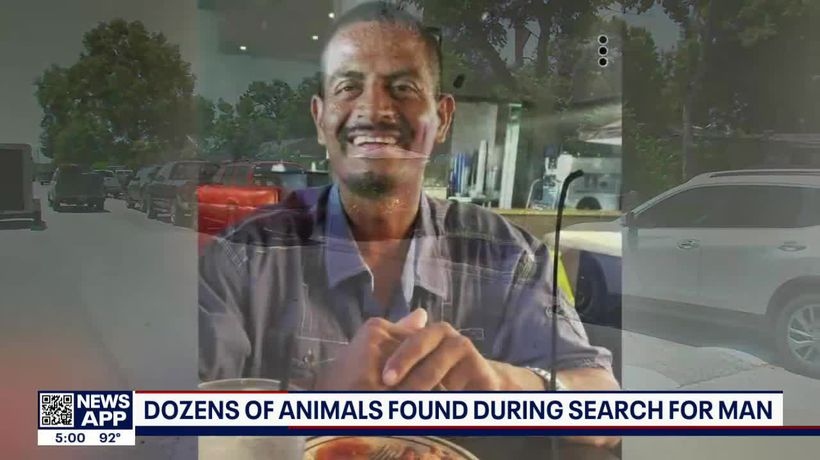 Dozens of animals found during search for missing Houston man
