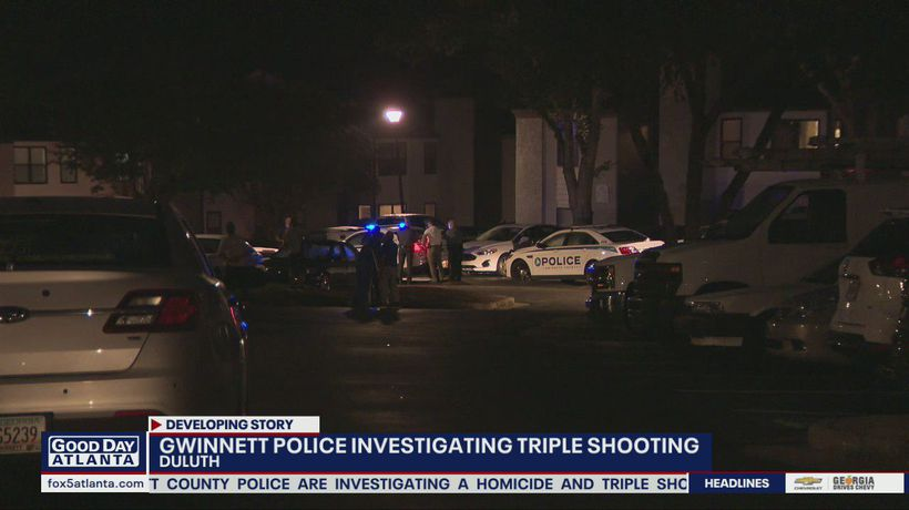 Gwinnett police investigating a deadly triple shooting