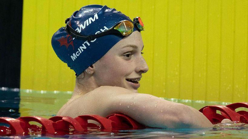 14-year-old swimmer Summer McIntosh competes for Canada in Tokyo