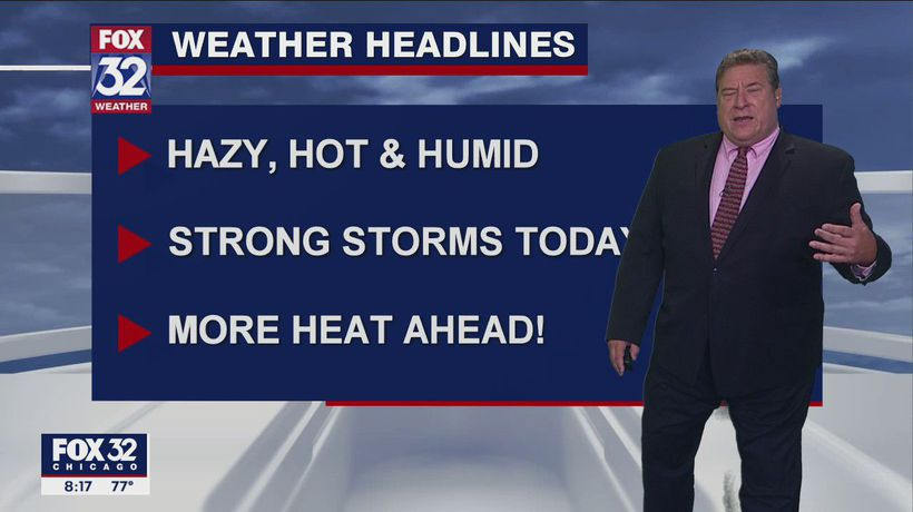 Morning forecast for Chicagoland on July 24