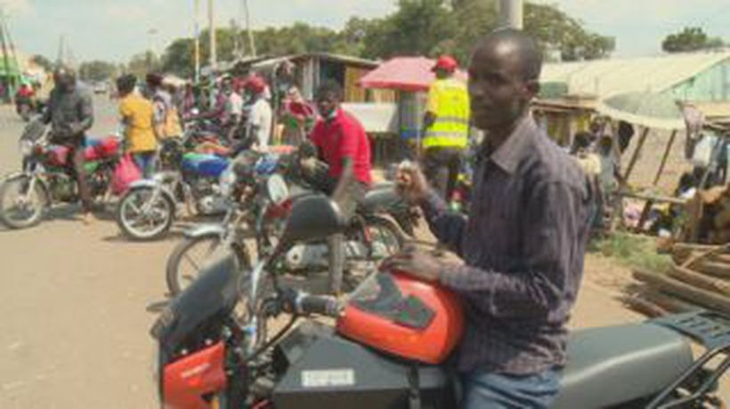 Electric motorbikes get a test drive in Kenya