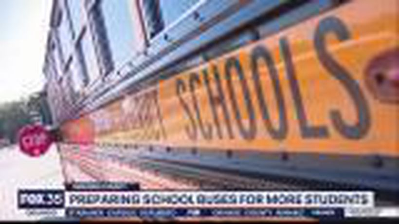 Preparing school buses for more students