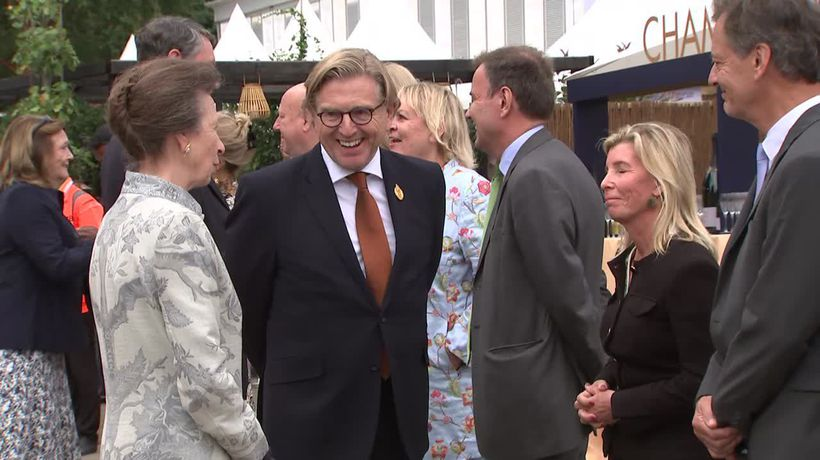 'Lovely to come back': Princess Anne attends RHS Flower Show