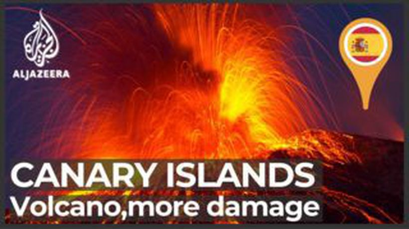 Damage grows as Canary Island lava flows, firefighters retreat