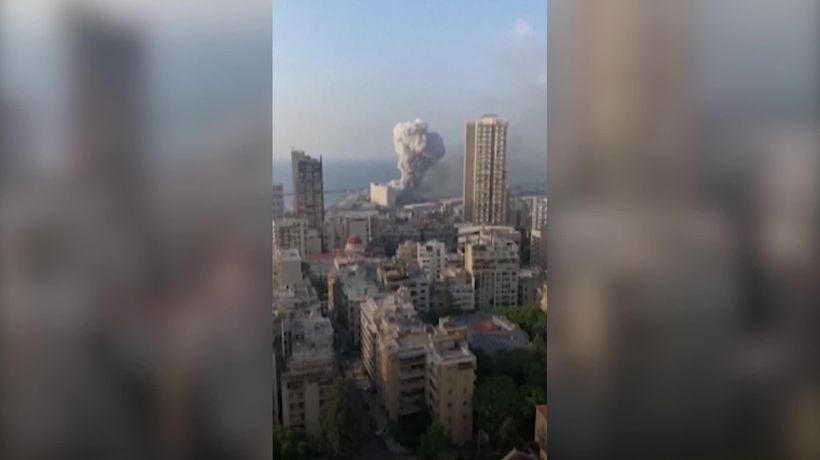 Dramatic video of explosion that rocked Beirut