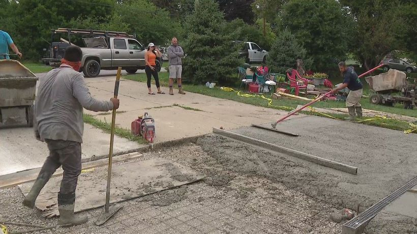 Concrete company comes to the rescue of ripped off family