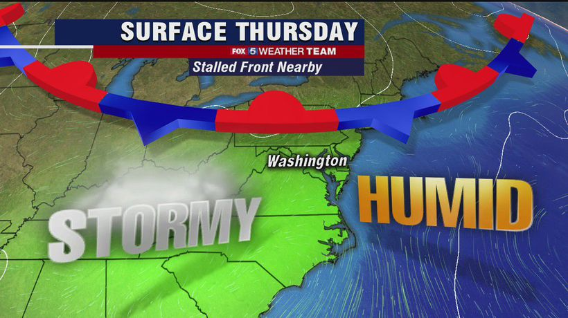 FOX 5 Weather forecast for Thursday, August 13