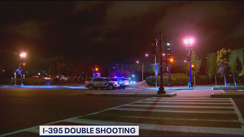 2 shot while driving on Interstate 395 in DC