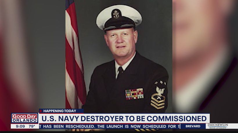 U.S. Navy destroyer named after fallen Florida sailor being commissioned Saturday