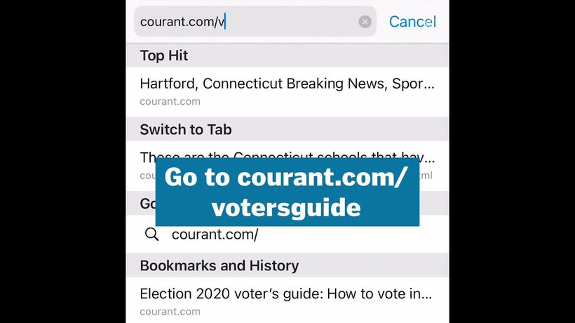 How to use the Courant's Voter Guide