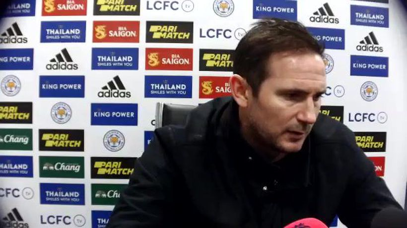 Lampard reacts to Chelsea's 2-0 loss at Leicester