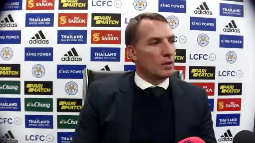 Rodgers on foxes going top after 2-0 Chelsea win