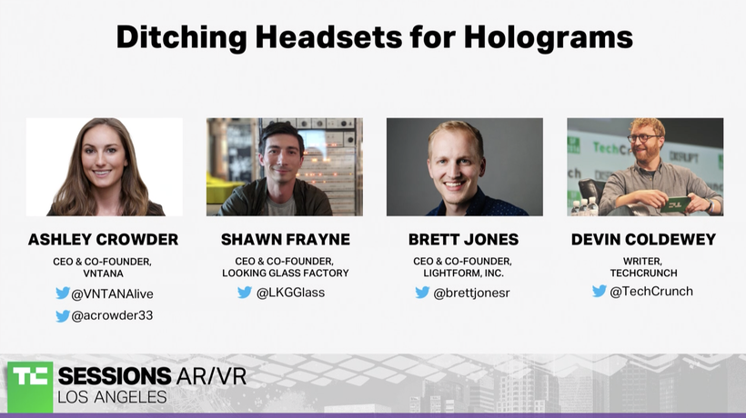 Ditching Headsets for Holograms with Ashley Crowder (VNTANA), Shawn Frayne (Looking Glass Factory),