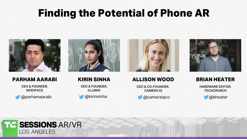 Finding the Potential of Phone AR with Parham Aarabi (Modiface), Kirin Sinha (Illumix) and Allison W
