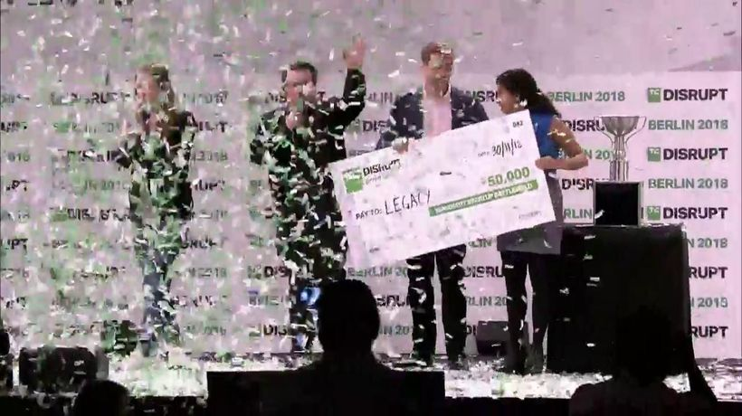 Legacy gets the grand prize in Startup Battlefield at Disrupt Berlin