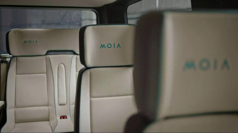 Here's a look at the interior of a MOIA vehicle