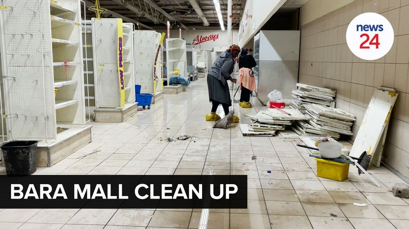 WATCH | Bara Mall in Soweto rearing to resume trade after community helps with mop-up operations